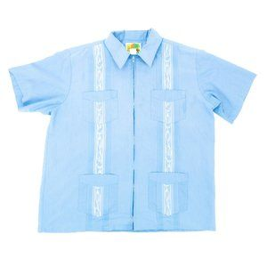 Haband Guayabera Men's Collared Shirt Full Zip (L)